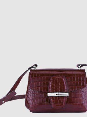 Roseau croco sac porté travers XS